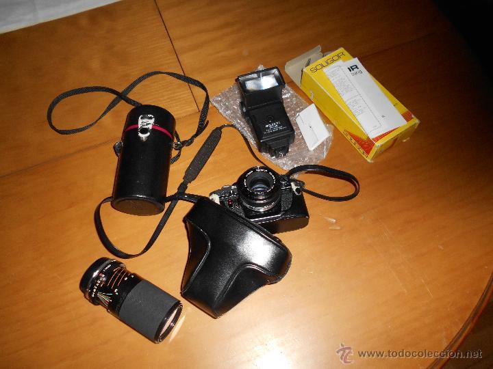 OLYMPUS OM-10 CAMERA + SUIKO AUTO S 50MM LENS 1.8 CAMARA REFLEX 35MM OM10 LENTE MAS OTRO PARA LARGO (Cámaras Fotográficas - Réflex (autofoco))