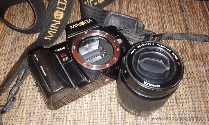 Cámara de fotos: CAMARA MINOLTA 7000 AF CON OBJETIVO 80/200 TAMBIEN MINOLTA - Foto 7 - 31250391