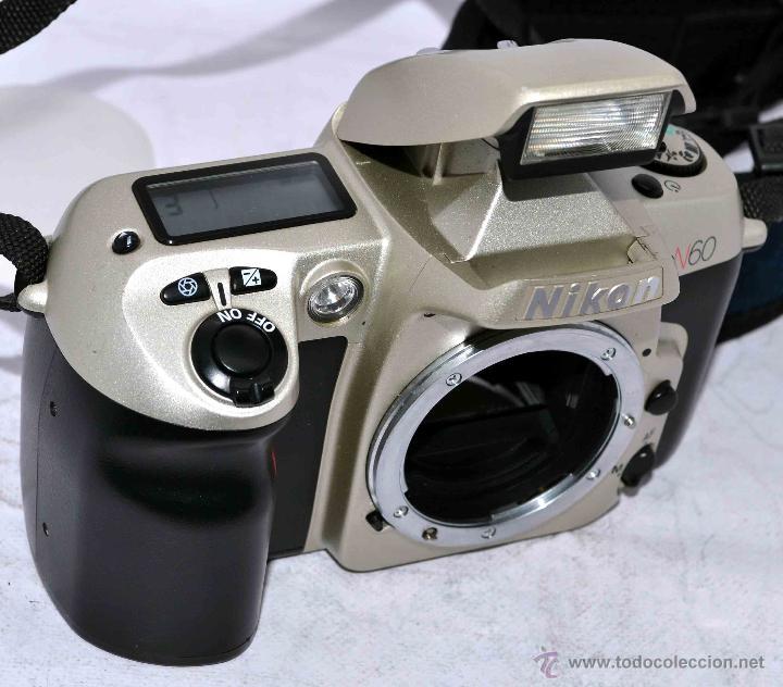 EXCELENTE CUERPO DE CAMARA REFLEX AUTOFOCUS 35MM, NIKON N60 (F 60) CON SU CORREA..PERFECTA..FUNCIONA (Cámaras Fotográficas - Réflex (autofoco))