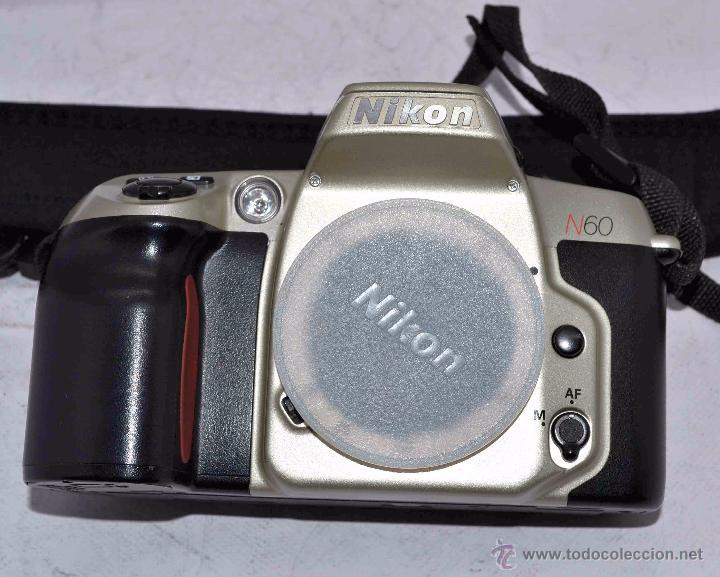 Cámara de fotos: EXCELENTE CUERPO DE CAMARA REFLEX AUTOFOCUS 35mm, NIKON N60 (F 60) CON SU CORREA..PERFECTA..FUNCIONA - Foto 3 - 52903214