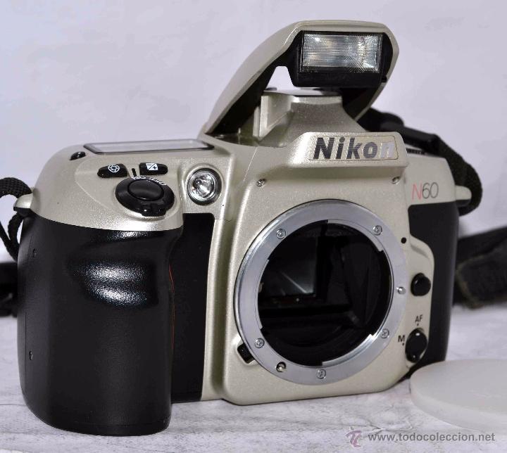 Cámara de fotos: EXCELENTE CUERPO DE CAMARA REFLEX AUTOFOCUS 35mm, NIKON N60 (F 60) CON SU CORREA..PERFECTA..FUNCIONA - Foto 4 - 52903214