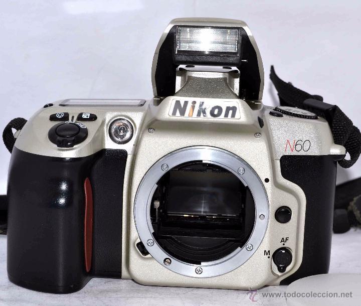 Cámara de fotos: EXCELENTE CUERPO DE CAMARA REFLEX AUTOFOCUS 35mm, NIKON N60 (F 60) CON SU CORREA..PERFECTA..FUNCIONA - Foto 5 - 52903214