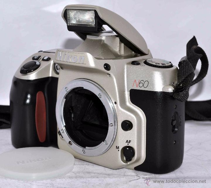 Cámara de fotos: EXCELENTE CUERPO DE CAMARA REFLEX AUTOFOCUS 35mm, NIKON N60 (F 60) CON SU CORREA..PERFECTA..FUNCIONA - Foto 6 - 52903214