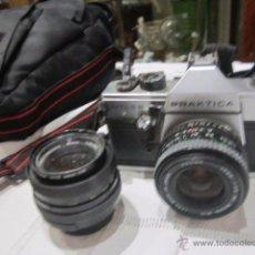 Câmaras de fotos: CÁMARA DE FOTOS PRAKTICA MTL 5B, CON DOS OBJETIVOS Y BOLSA. Lote 53884591