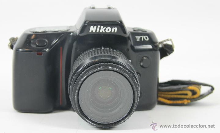 CAMARA FOTOGRAFICA NIKON MODELO F-70. OBJETIVO NIKON AF NIKKOR 35-80 MM. 1994. (Cámaras Fotográficas - Réflex (autofoco))