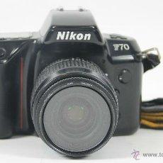 Cámara de fotos: CAMARA FOTOGRAFICA NIKON MODELO F-70. OBJETIVO NIKON AF NIKKOR 35-80 MM. 1994.. Lote 49688203