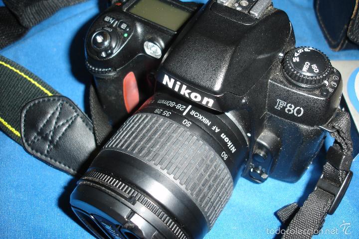 Cámara de fotos: CÁMARA FOTOGRÁFICA NIKON F80 CON TRES OBJETIVOS MÁS ACCESORIOS - Foto 2 - 57206513