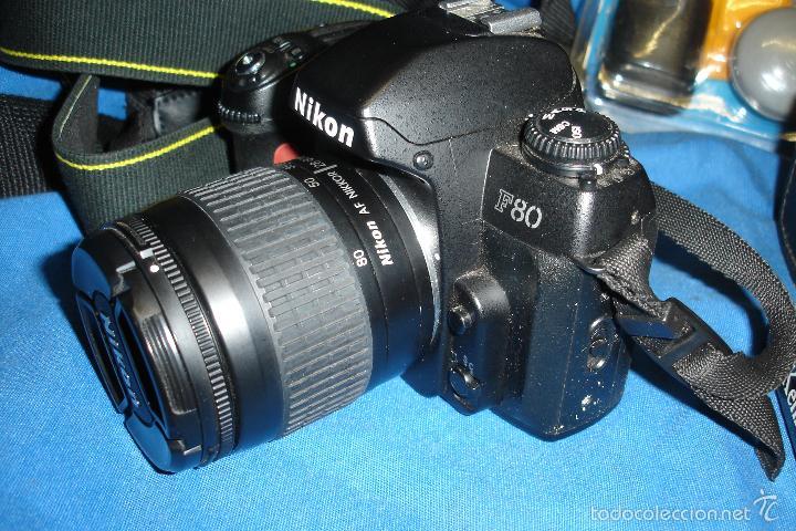 Cámara de fotos: CÁMARA FOTOGRÁFICA NIKON F80 CON TRES OBJETIVOS MÁS ACCESORIOS - Foto 5 - 57206513