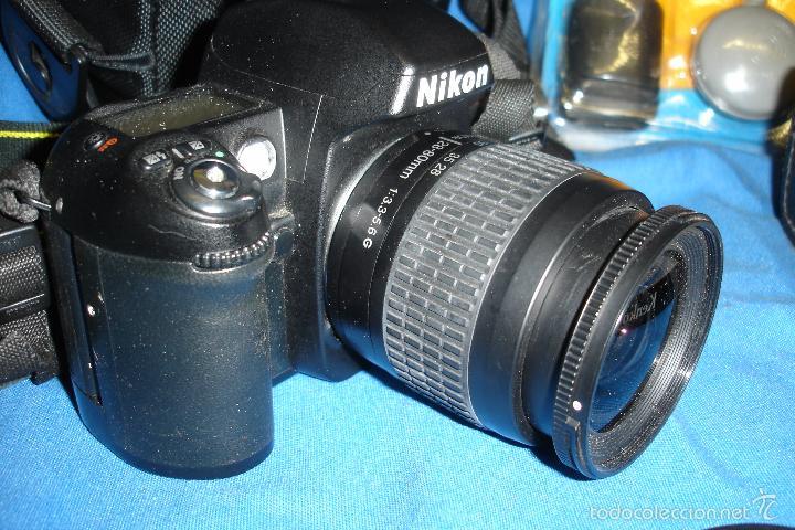 Cámara de fotos: CÁMARA FOTOGRÁFICA NIKON F80 CON TRES OBJETIVOS MÁS ACCESORIOS - Foto 6 - 57206513