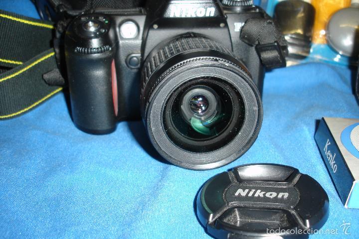 Cámara de fotos: CÁMARA FOTOGRÁFICA NIKON F80 CON TRES OBJETIVOS MÁS ACCESORIOS - Foto 8 - 57206513