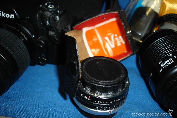 Cámara de fotos: CÁMARA FOTOGRÁFICA NIKON F80 CON TRES OBJETIVOS MÁS ACCESORIOS - Foto 14 - 57206513
