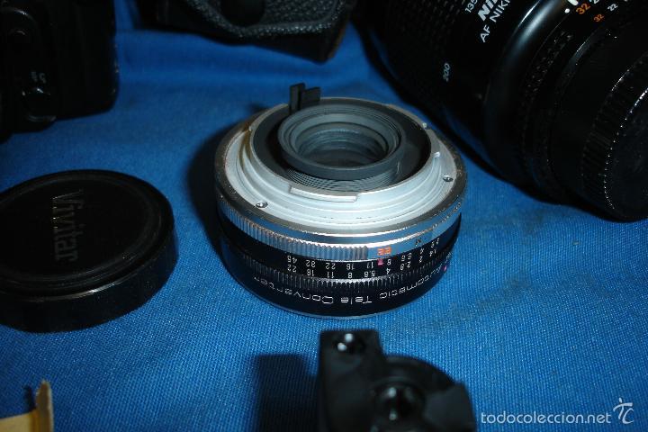 Cámara de fotos: CÁMARA FOTOGRÁFICA NIKON F80 CON TRES OBJETIVOS MÁS ACCESORIOS - Foto 15 - 57206513