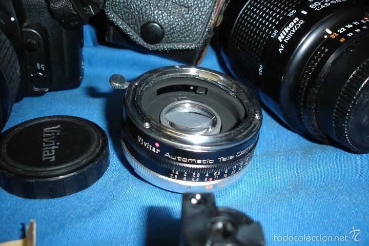 Cámara de fotos: CÁMARA FOTOGRÁFICA NIKON F80 CON TRES OBJETIVOS MÁS ACCESORIOS - Foto 16 - 57206513