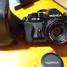 Cámara de fotos: YASHICA FX-3 + ML 50MM 1:2 LENS CAMERA CAMARA 35MM REFLEX LENS + OBJETIVO SAMYANG 70-210 MM. Lote 61640592