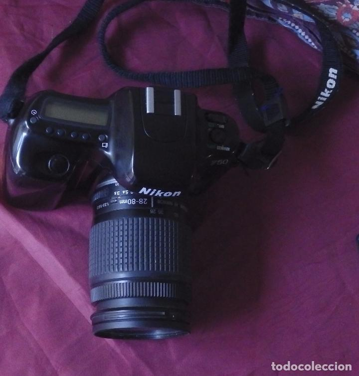 CAMARA ANALOGICA NIKON F50 + OBJETIVO NIKON NIKKOR 28-80 + FILTRO HOYA UV + FUNDA . (Cámaras Fotográficas - Réflex (autofoco))