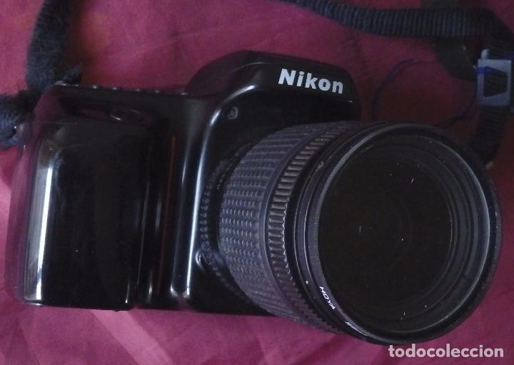 Cámara de fotos: CAMARA ANALOGICA NIKON F50 + OBJETIVO NIKON NIKKOR 28-80 + FILTRO HOYA UV + FUNDA . - Foto 2 - 62496580