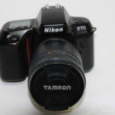 Cámara de fotos: NIKON F70 + TAMRON 28-200 MM./3,8-5,6 AF IF LD ASPHERICAL + PARASOL ESPECÍFICO (ANALÓGICAS- DIGITAL). Lote 75945367