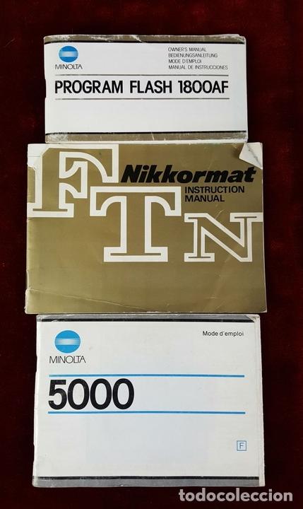 Cámara de fotos: CONJUNTO DE CAMARA MINOLTA 5000 AF. LENTE MINOLTA 70-210. ESTUCHE ACOLCHADO. 1987. - Foto 16 - 76952309