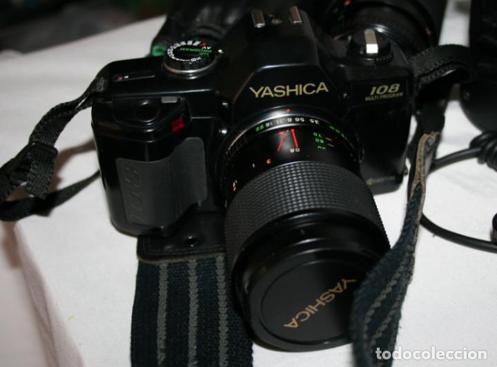 Cámara de fotos: CAMARA DE FOTOS YASHICA 108, OBJETIVO 35-70, ZOOM MACRO 60-300, FLASH SUNPAK 455, BUEN ESTADO - Foto 2 - 86889604