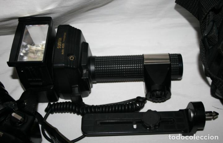 Cámara de fotos: CAMARA DE FOTOS YASHICA 108, OBJETIVO 35-70, ZOOM MACRO 60-300, FLASH SUNPAK 455, BUEN ESTADO - Foto 3 - 86889604