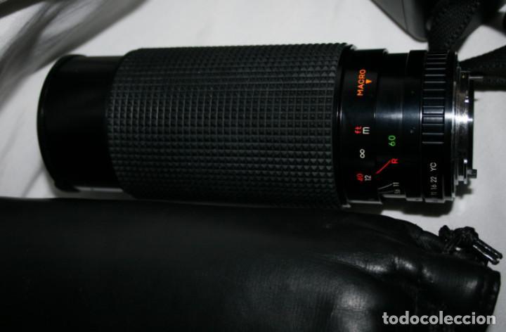 Cámara de fotos: CAMARA DE FOTOS YASHICA 108, OBJETIVO 35-70, ZOOM MACRO 60-300, FLASH SUNPAK 455, BUEN ESTADO - Foto 4 - 86889604
