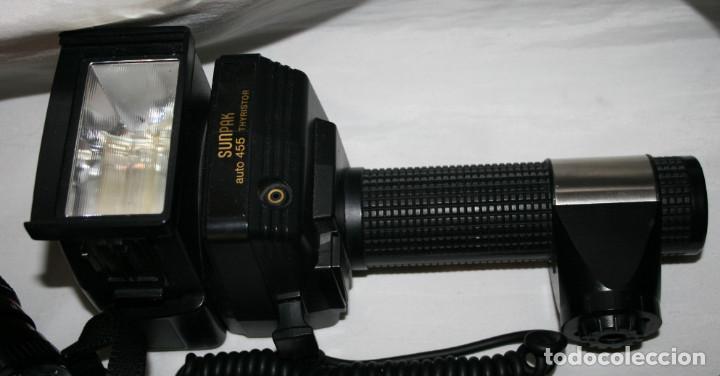 Cámara de fotos: CAMARA DE FOTOS YASHICA 108, OBJETIVO 35-70, ZOOM MACRO 60-300, FLASH SUNPAK 455, BUEN ESTADO - Foto 5 - 86889604