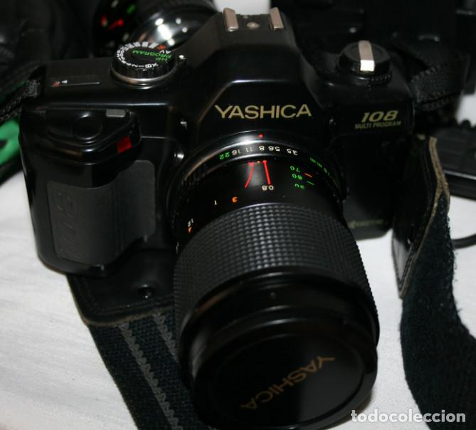 Cámara de fotos: CAMARA DE FOTOS YASHICA 108, OBJETIVO 35-70, ZOOM MACRO 60-300, FLASH SUNPAK 455, BUEN ESTADO - Foto 6 - 86889604