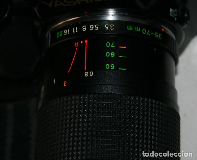 Cámara de fotos: CAMARA DE FOTOS YASHICA 108, OBJETIVO 35-70, ZOOM MACRO 60-300, FLASH SUNPAK 455, BUEN ESTADO - Foto 9 - 86889604