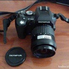 Cámara de fotos: EQUIPO OLYMPUS E-500 CON 2 OBJETIVOS ZUIKO DE OLYMPUS Y COMPLEMENTOS. Lote 87173412