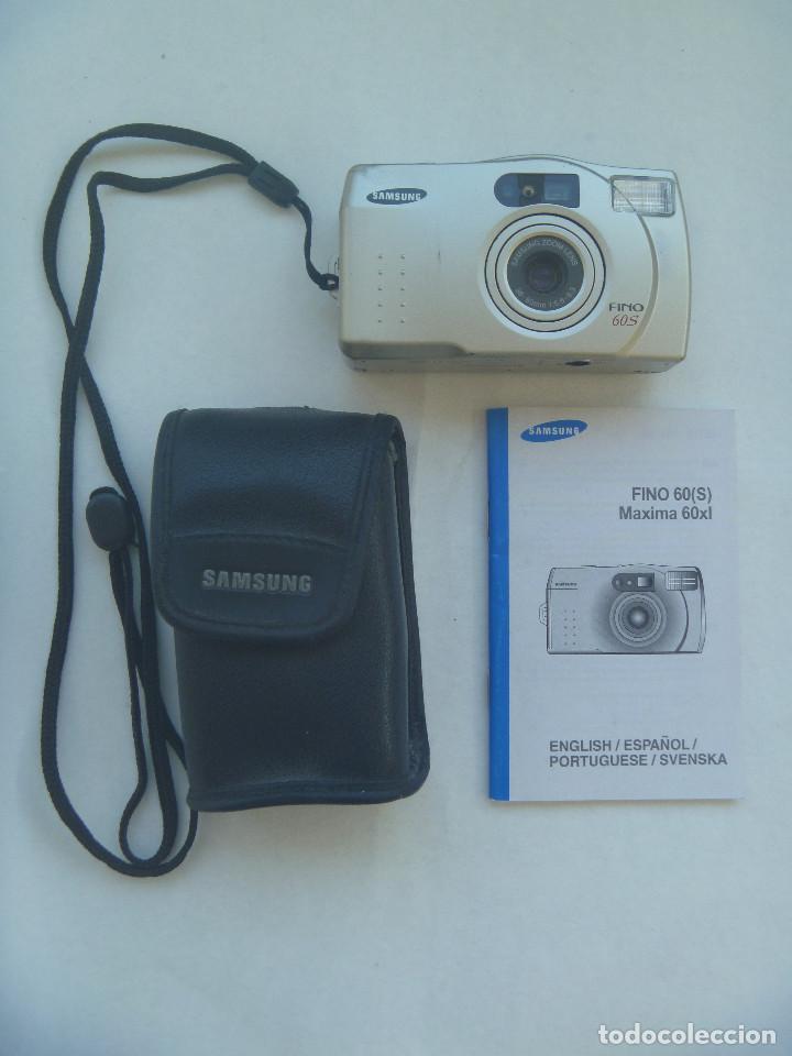 CAMARA DE FOTOS FINO 60 (S) MAXIMA 60 X L , DE SAMSUNG. CON FUNDA E INSTRUCCIONES (Cámaras Fotográficas - Réflex (autofoco))