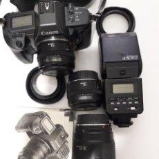 Cámara de fotos: EQUIPO CANON EOS 600D ANALÓGICA. Lote 103915807