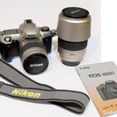 Cámara de fotos: CAMARA NIKON F65 CON OBJETIVO AF NIKKOR 28-80 Y AF NIKKOR 70-300, CON LIBRO INSTRUCCIONES. Lote 113014995