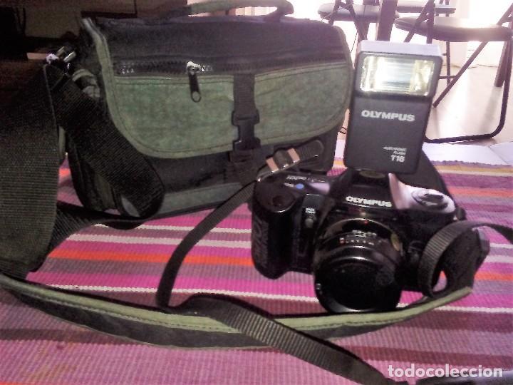 CAMARA REFLEX OLYMPUS OM 101 POWER FOCUS + FLASH T18 + MALETÍN VER FOTOGRAFÍAS (Cámaras Fotográficas - Réflex (autofoco))