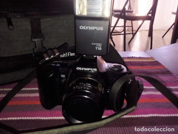 Cámara de fotos: CAMARA REFLEX OLYMPUS OM 101 POWER FOCUS + FLASH T18 + MALETÍN VER FOTOGRAFÍAS - Foto 2 - 114143723