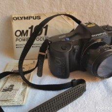 Cámara de fotos: CAMARA FOTOS OLYMPUS OM101 POWER FOCUS + FUNDA CUERO + MANUAL INSTRUCIONES FUNCIONANDO. Lote 117833567
