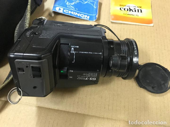 Cámara de fotos: CAMARA FOTOGRAFICA CHINON GS-7 REFLEX ZOOM, 1989, con funda - Foto 5 - 119174907
