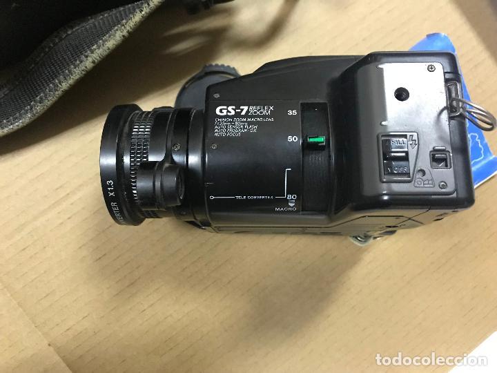 Cámara de fotos: CAMARA FOTOGRAFICA CHINON GS-7 REFLEX ZOOM, 1989, con funda - Foto 8 - 119174907
