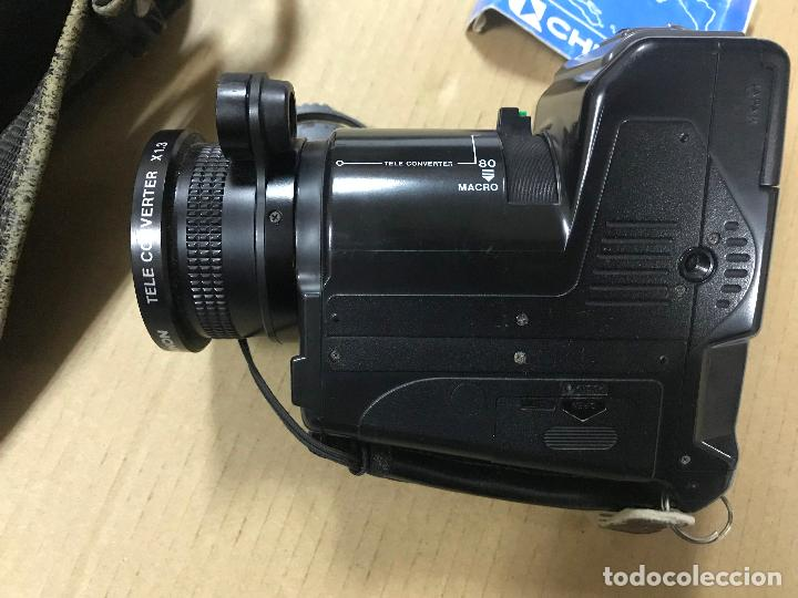 Cámara de fotos: CAMARA FOTOGRAFICA CHINON GS-7 REFLEX ZOOM, 1989, con funda - Foto 9 - 119174907