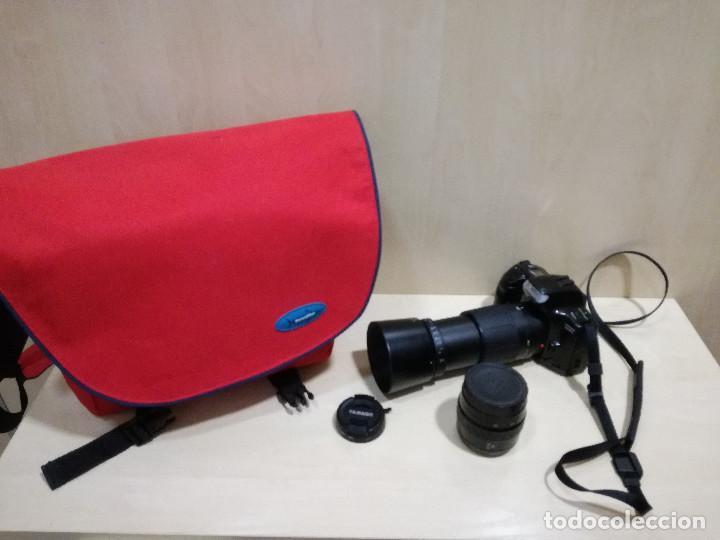 CAMARA FOTOGRAFICA - MINOLTA DIMAX 300SI + ZOOM AF 35-70 + ZOOM TAMRON 80-210 + FILTRO HAMA PL M-52 (Cámaras Fotográficas - Réflex (autofoco))
