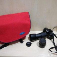 Cámara de fotos: CAMARA FOTOGRAFICA - MINOLTA DIMAX 300SI + ZOOM AF 35-70 + ZOOM TAMRON 80-210 + FILTRO HAMA PL M-52. Lote 130071919