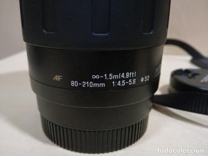 Cámara de fotos: CAMARA FOTOGRAFICA - MINOLTA DIMAX 300SI + ZOOM AF 35-70 + ZOOM TAMRON 80-210 + FILTRO HAMA PL M-52 - Foto 15 - 130071919