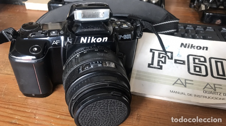 Cámara de fotos: Cámara AF Nikon F 601. Objetivo Sigma 28/70. Bolsa de Transporte. - Foto 3 - 130609799