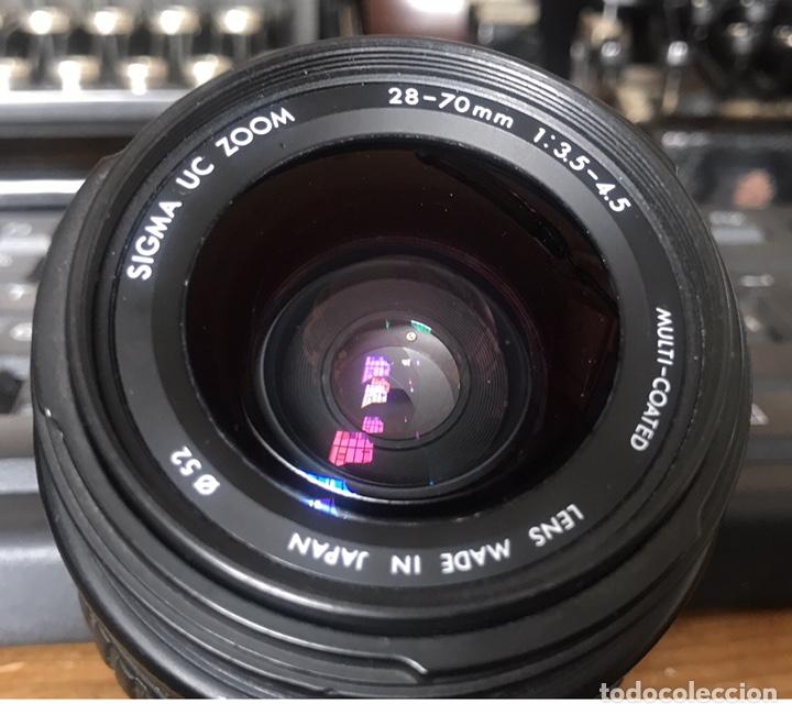 Cámara de fotos: Cámara AF Nikon F 601. Objetivo Sigma 28/70. Bolsa de Transporte. - Foto 4 - 130609799