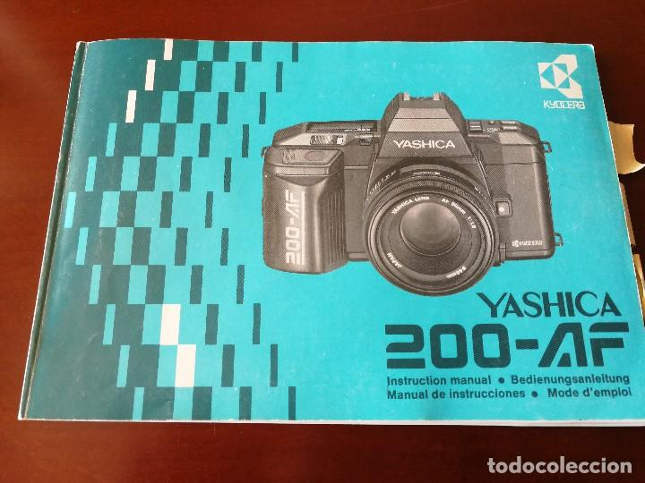 Cámara de fotos: VENTA CONJUNTA O SEPARADA LOTE DE FOTOGRAFIA: CAMARA YASHICA 200-AF, FLASH YASHICA CS-250 AF... - Foto 3 - 131115888