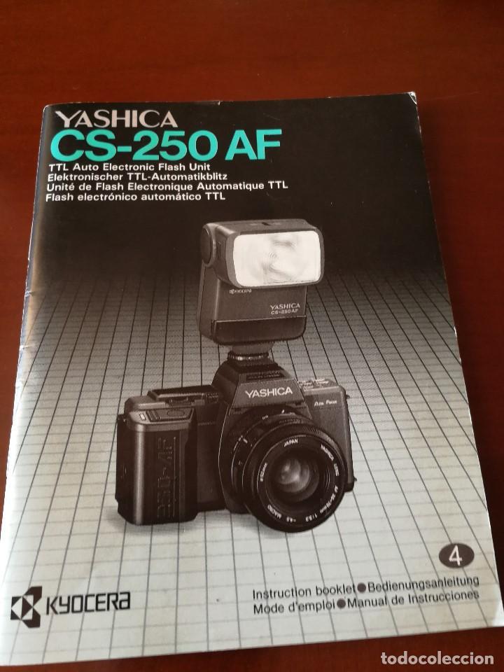 Cámara de fotos: VENTA CONJUNTA O SEPARADA LOTE DE FOTOGRAFIA: CAMARA YASHICA 200-AF, FLASH YASHICA CS-250 AF... - Foto 4 - 131115888