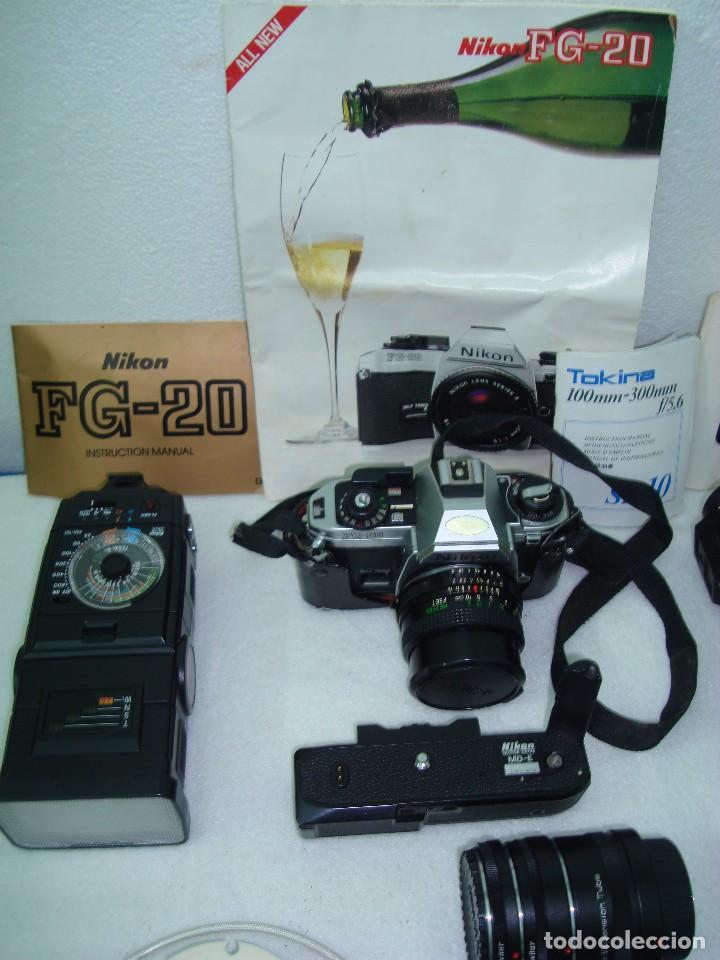 Cámara de fotos: CAMARA FOTOGRAFICA NIKON FG 20 - Foto 5 - 131389186