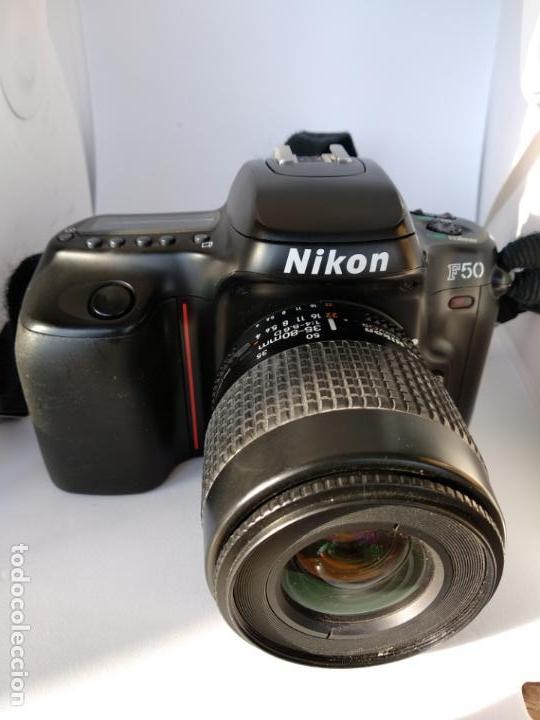 CÁMARA NIKON F50 OBJETIVO NIKKOR 35-80 FUNCIONANDO (Cámaras Fotográficas - Réflex (autofoco))