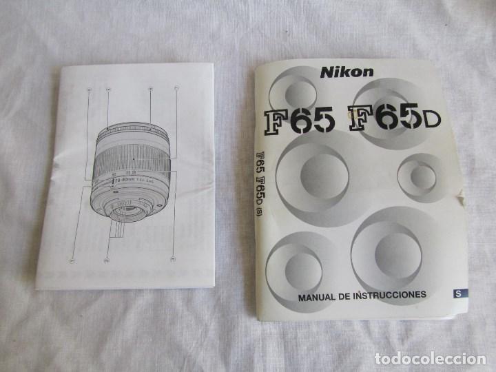 Cámara de fotos: Cámara Nikon F65 + funda + Instrucciones. Funciona perfectamente. - Foto 9 - 138664474