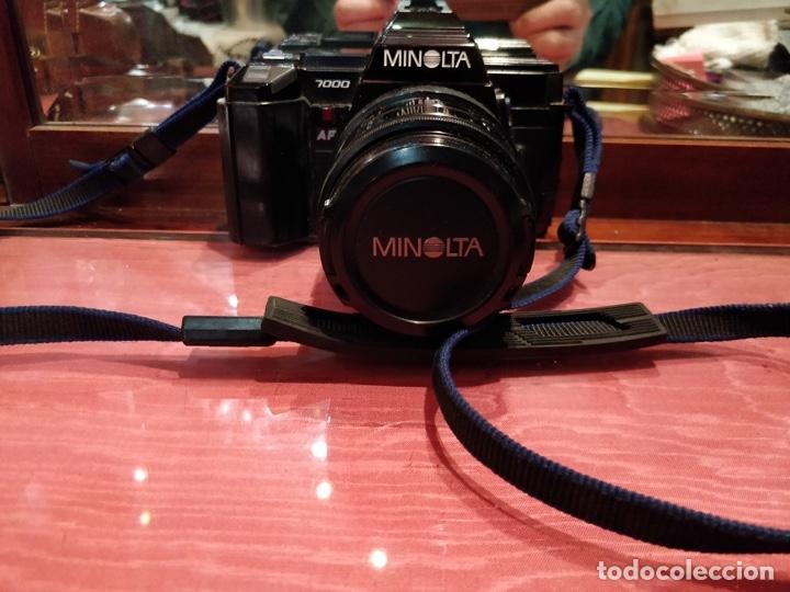 Cámara de fotos: Cámara fotográfica Minolta 7000. Con funda protectora desgastada. - Foto 3 - 40353641