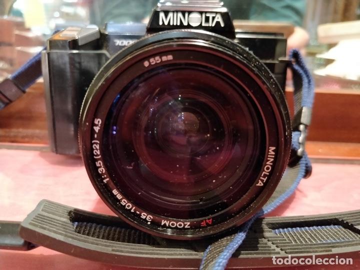 Cámara de fotos: Cámara fotográfica Minolta 7000. Con funda protectora desgastada. - Foto 4 - 40353641